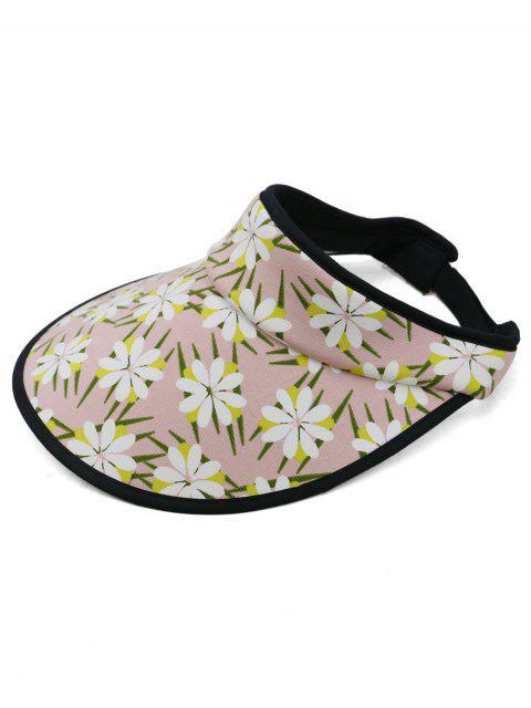 Flores florecientes Abrir sombrero protector solar superior - Rosa Luz  Mobile