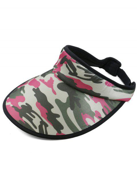 sale Camouflage Printed Open Top Sun Hat - ROSE RED  Mobile