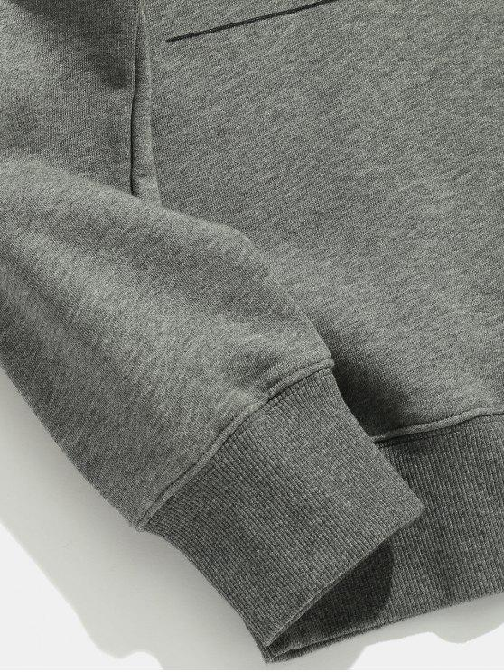 Casual Hoodie Gray Printed Color Solid M Letter Cloud F7wtq8Bnn
