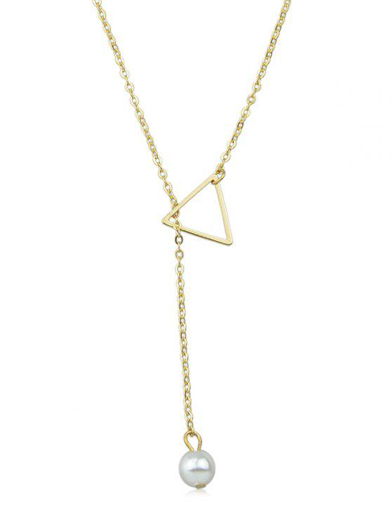 online Artificial Pearl Star Designed Chain Necklace - GOLD