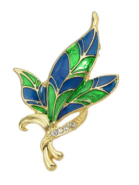 Flor diseño ropa decoración broche - Multicolor