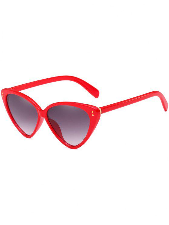 online Stylish Flat Lens Catty Driving Travel Sunglasses - RED