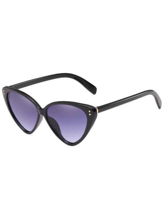 Stilvolle flache Linse Catty Driving Travel Sonnenbrille - Schwarz