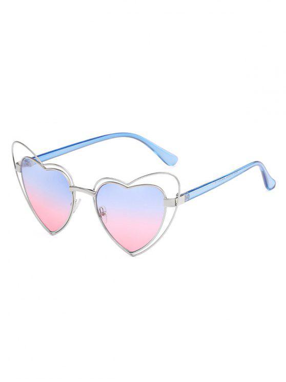 مكافحة التعب غير النظامية القلب الإطار عدسة النظارات الشمسية - مسحوق أزرق