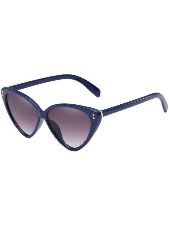 fancy Stylish Flat Lens Catty Driving Travel Sunglasses - DEEP BLUE