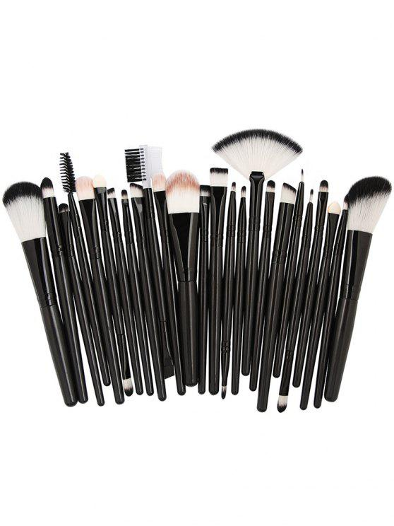 outfits 25Pcs Synthetic Fiber Hair Makeup Brush Collection - NATURAL BLACK