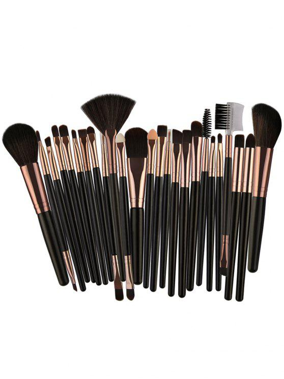 latest 25Pcs Synthetic Fiber Hair Makeup Brush Collection - DARK GOLDENROD