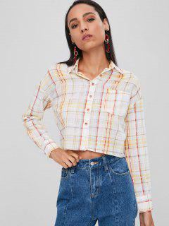 Button Up Plaid Pocket Shirt - Multi M