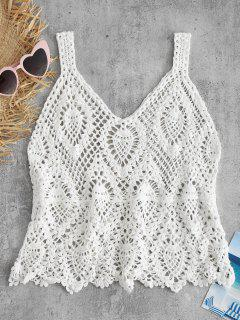 Crocheted Tank Top - White