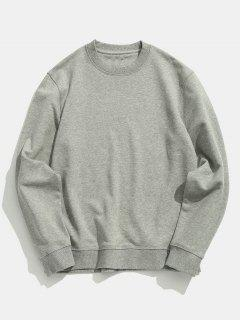 Basic Crew Neck Sweatshirt - Gray Goose L
