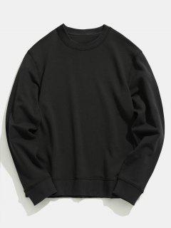 Basic Crew Neck Sweatshirt - Black 3xl