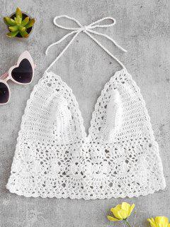 Crochet Bralette Bikini Top - White