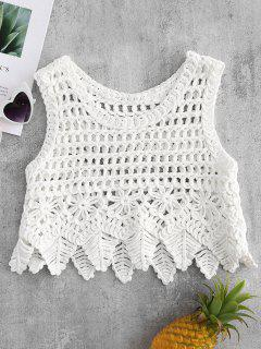 Chunky Crochet Top - White