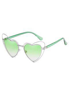 Gafas De Sol Con Lente De Marco De Corazón Irregular Anti Fatiga - Azul Verde