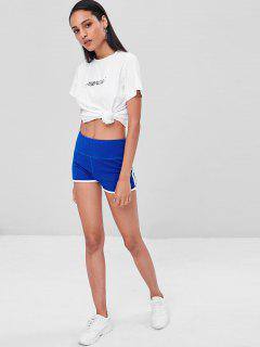Compression Gym Dolphin Shorts - Cobalt Blue S