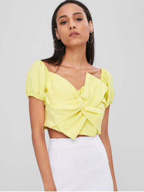 chic Twist Sweetheart Top - YELLOW L Mobile