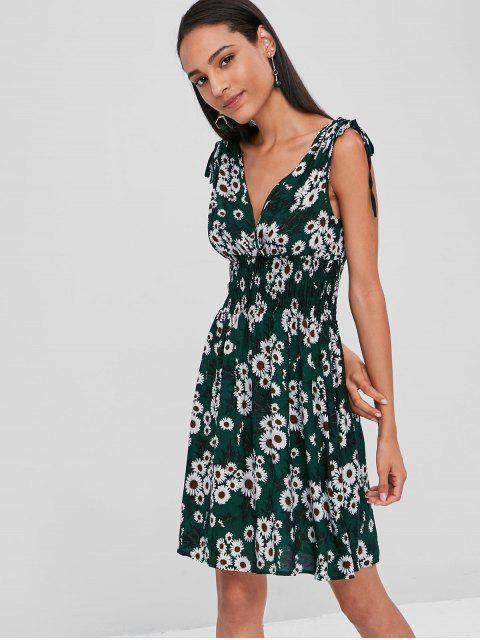 Vestido de sobrepelliz Margarita ceñido - Verde de Bosque Oscuro L Mobile