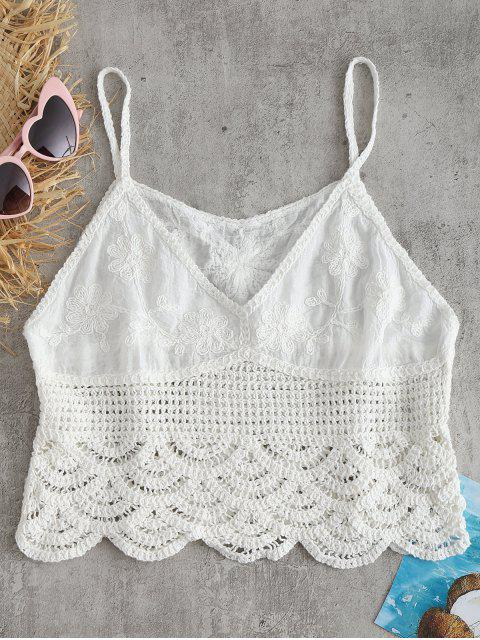 women Floral Crochet Camis - WHITE ONE SIZE Mobile