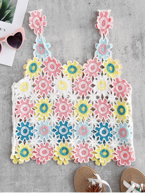 Débardeur en Crochet Floral - Multi-A Taille Unique Mobile