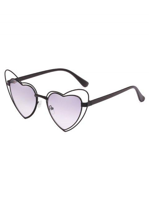 Anti-Ermüdungs-unregelmäßige Herz-Rahmen-Objektiv-Sonnenbrille - Kohle Grau  Mobile