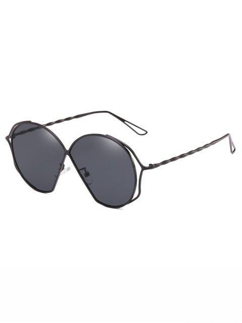 unique Metal Frame Irregular Flat Lens Novelty Sunglasses - GRAY  Mobile