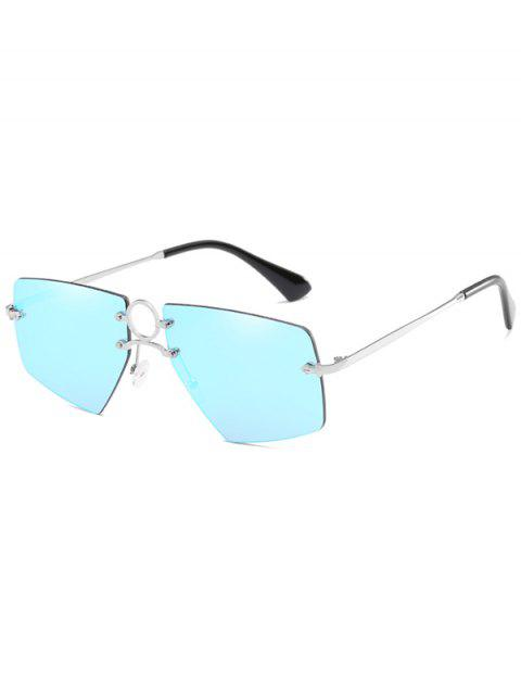 buy Stylish Hollow Out Ring Rimless Sunglasses - HELIOTROPE PURPLE  Mobile