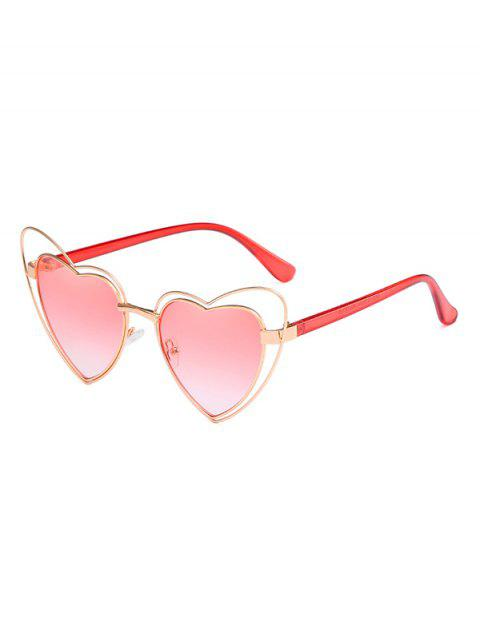 womens Anti Fatigue Irregular Heart Frame Lens Sunglasses - LIGHT PINK  Mobile