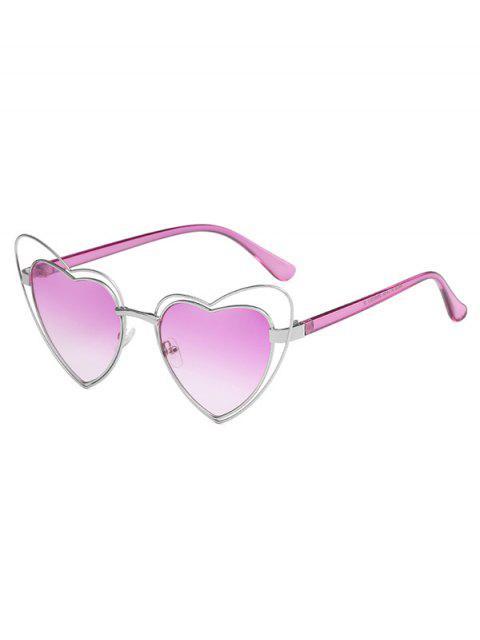 Anti-Ermüdungs-unregelmäßige Herz-Rahmen-Objektiv-Sonnenbrille - Heliotropisches Lila  Mobile