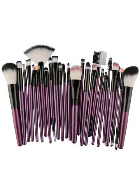 hot 25Pcs Synthetic Fiber Hair Makeup Brush Collection - PURPLE  Mobile