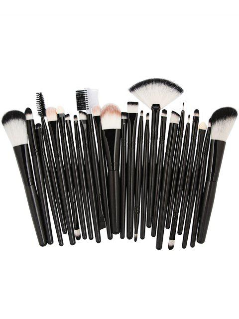 outfits 25Pcs Synthetic Fiber Hair Makeup Brush Collection - NATURAL BLACK  Mobile