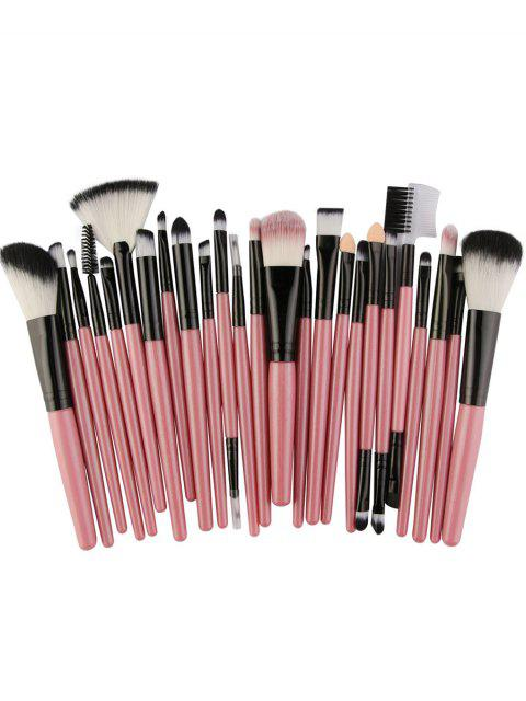 shop 25Pcs Synthetic Fiber Hair Makeup Brush Collection - LIGHT PINK  Mobile