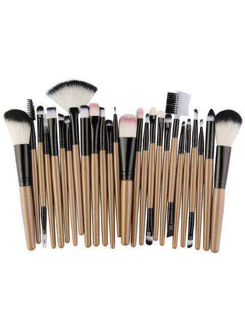 trendy 25Pcs Synthetic Fiber Hair Makeup Brush Collection - CAMEL BROWN  Mobile