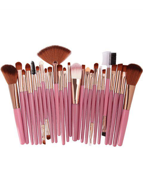 fashion 25Pcs Synthetic Fiber Hair Makeup Brush Collection - ORANGE PINK  Mobile