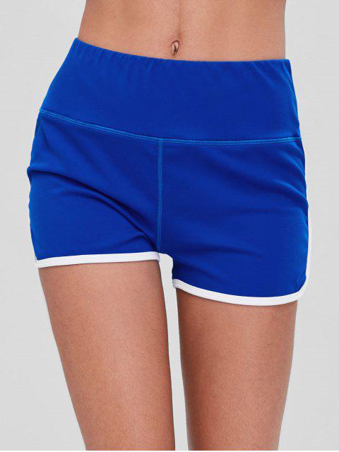 women Compression Gym Dolphin Shorts - COBALT BLUE L Mobile