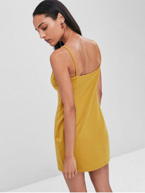 online Slip Club Bodycon Dress - GOLDEN BROWN M Mobile
