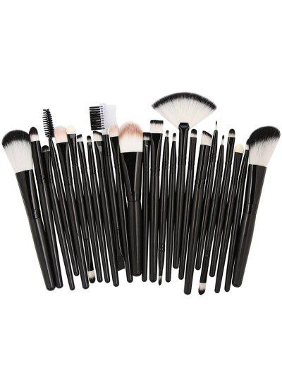Image of 25Pcs Synthetic Fiber Hair Makeup Brush Collection