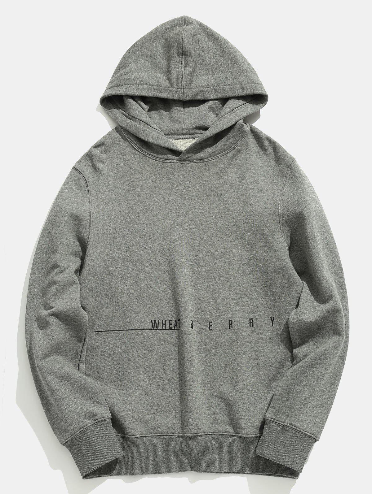 Letter Printed Solid Color Casual Hoodie 272670405
