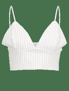 df8fe85858 15% OFF  2019 Unlined Stripes Bralette Top In WHITE S