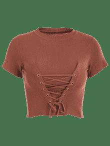 Cordones Camiseta De Casta Recortada a Con Punto w40t4