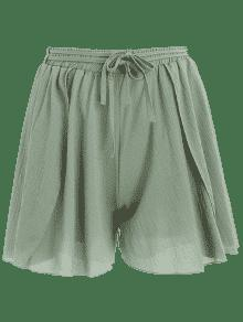 2019 Short Taille Haute à Ourlet En Pétale en Vert Taille Unique ... 68a1bf75bba