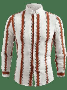 Camisa De Verticales M Casual Rayas Amarillo rrgwYqO
