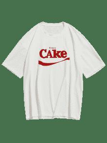 Manga Blanco Casual Camiseta Corta De S Letras qxCUBn