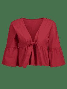 Suelta Blusa Cereza Rojo L Anudada 515Tp