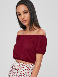 Vino Raglan Shoulder Sleeve Off Top Tinto IqUqwrng