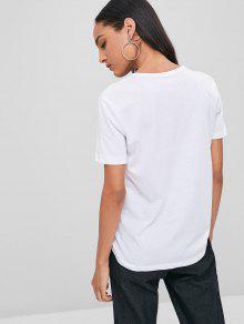 Camiseta Delicados Tacones Estampada Blanco S Sueltos De 0qx0r