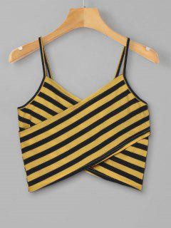 Striped Overlap Cami Top - School Bus Yellow Xl