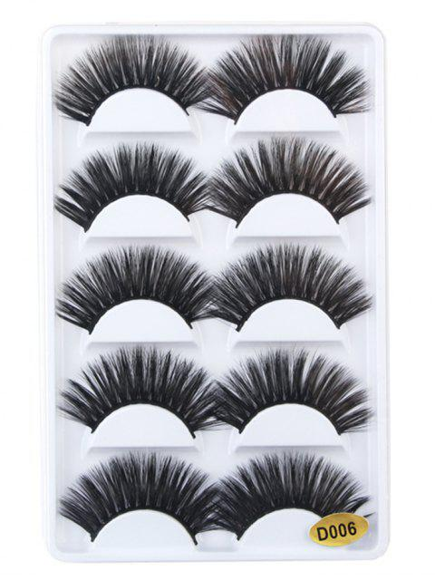 unique Professional 5 Pair Curling Volumizing Handmade Fake Eyelashes - BLACK  Mobile
