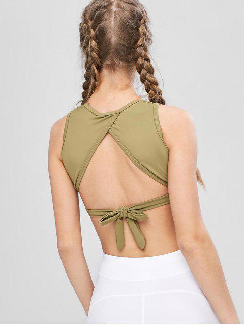 Sujetador deportivo Tie Back Wrap - Ejercito Verde L Mobile