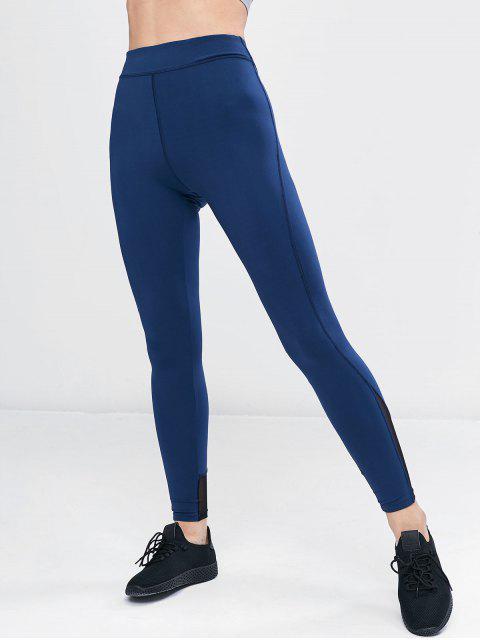 Malla Pantalones de deporte de cintura alta con panel - Arrendajo Azul M Mobile