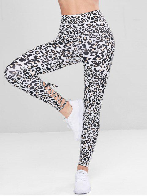 Leggings deportivos leopardo con cordones - Leopardo M Mobile